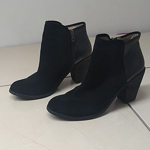 Softwalk Half Suede Half Leather Ankle Boots